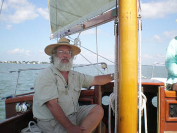 Captain Chuck at the Helm